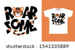 roarsome tiger t shirt and...   Shutterstock .eps vector #1541335889