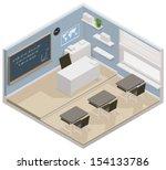 vector isometric school or... | Shutterstock .eps vector #154133786