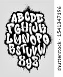 handwritten graffiti font...   Shutterstock .eps vector #1541347196