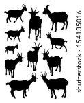 goats set | Shutterstock .eps vector #154135016