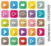 arrow sign icon set. flat icons ... | Shutterstock .eps vector #154135409