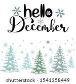 hello december month vector... | Shutterstock .eps vector #1541358449