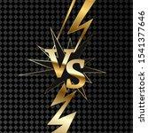 vs gold sign. on background. | Shutterstock . vector #1541377646