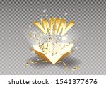 win text explosion on box and... | Shutterstock . vector #1541377676