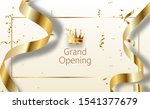 grand opening sparkling banner. ... | Shutterstock . vector #1541377679
