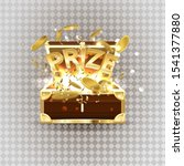gold text prize from a chest of ... | Shutterstock . vector #1541377880