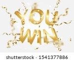 you win winner banner... | Shutterstock . vector #1541377886