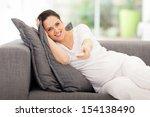 portrait of cute pregnant woman ... | Shutterstock . vector #154138490