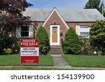 real estate for sale sign on... | Shutterstock . vector #154139900