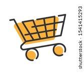 Trolley Cart Line Icon Vector....