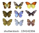 butterfly on white | Shutterstock . vector #154142306