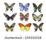 butterfly on white | Shutterstock . vector #154142318