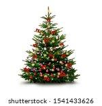 Shiny Decorated Christmas Tree...