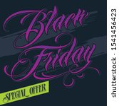 black friday sale label. vector ... | Shutterstock .eps vector #1541456423