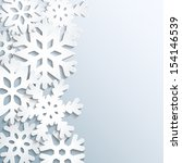 background with paper snowflakes | Shutterstock .eps vector #154146539