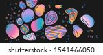 holographic gradient spots on a ... | Shutterstock .eps vector #1541466050