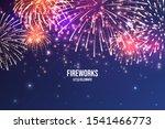 festive fireworks. realistic... | Shutterstock .eps vector #1541466773