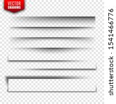 vector shadows set. page... | Shutterstock .eps vector #1541466776