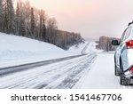 Silver Suv Car Stay In Sunny...