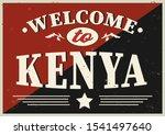 welcome to kenya vector... | Shutterstock .eps vector #1541497640