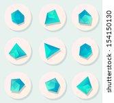 polygonal geometric figures.... | Shutterstock .eps vector #154150130