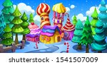 christmas village in the snowy... | Shutterstock .eps vector #1541507009