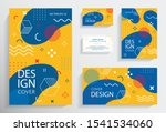 memphis style brochures with... | Shutterstock .eps vector #1541534060