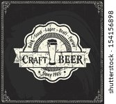 retro styled label of beer or ... | Shutterstock .eps vector #154156898