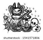 halloween vector composition... | Shutterstock .eps vector #1541571806