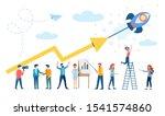 revenue growth  successful...   Shutterstock .eps vector #1541574860