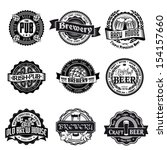 retro set styled label of beer. ... | Shutterstock .eps vector #154157660