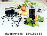 aronia   black choke berry... | Shutterstock . vector #154159658