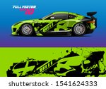 car wrap design with abstract... | Shutterstock .eps vector #1541624333