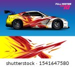 car wrap design with abstract...   Shutterstock .eps vector #1541647580