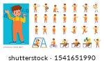 Set Of Kid Character Vector...