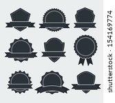 set of retro labels   vector... | Shutterstock .eps vector #154169774