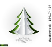 merry christmas and happy new... | Shutterstock . vector #154174439