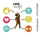 lose weight over white... | Shutterstock .eps vector #154174568