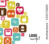 lose weight over white... | Shutterstock .eps vector #154174604