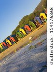 st james beach with colourful... | Shutterstock . vector #154176368
