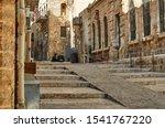 Ancient Alley In Jewish Quarter ...