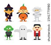halloween kids costume party set | Shutterstock .eps vector #1541775980