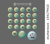 design elements  icons set with ... | Shutterstock .eps vector #154179410