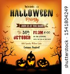 halloween party invitation with ... | Shutterstock .eps vector #1541804249
