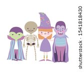 happy halloween celebration... | Shutterstock .eps vector #1541818430