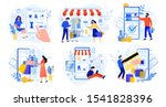 online shopping. internet... | Shutterstock .eps vector #1541828396
