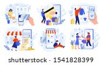 online store payment. bank... | Shutterstock .eps vector #1541828399