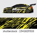 car wrap decal designs.... | Shutterstock .eps vector #1541829533
