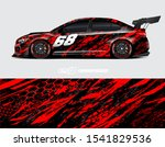 car wrap decal designs.... | Shutterstock .eps vector #1541829536