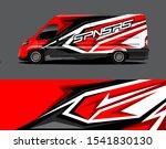 cargo van wrap decal designs.... | Shutterstock .eps vector #1541830130